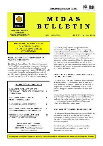 MIDAS Bulletin - USM - Universiti Sains Malaysia