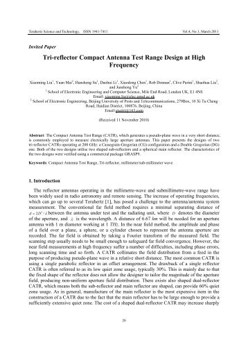 Tri-reflector Compact Antenna Test Range Design at High Frequency