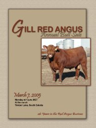 2005 Sale catalog PDF (3.5 megs) - Gill Red Angus