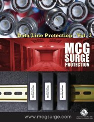 Product Catalog - MCG Surge Protection