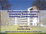 Psychosoziale Folgen chronisch körperlicher Erkrankungen ...