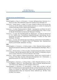 Publications of Julia Simonson - Deutsches Zentrum für Altersfragen