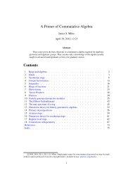 A Primer of Commutative Algebra - James Milne