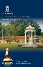 December Mare Sale - Tattersalls