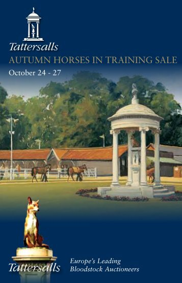 Autumn Horses in Training Sale - Tattersalls