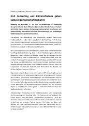 Mitteilung GFA Consulting und ClimatePartner 210709