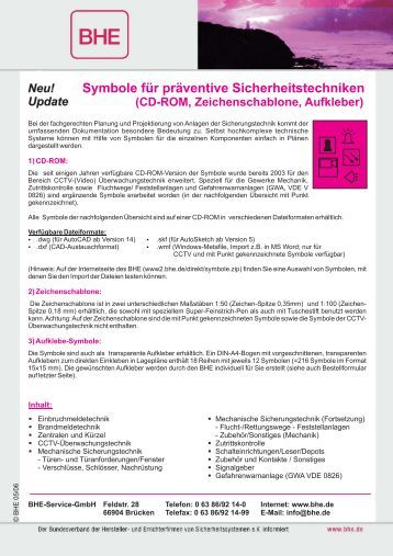 Symbole für präventive Sicherheitstechniken (CD ... - Baunetzwissen