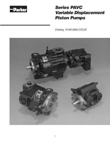 Series PAVC Variable Volume Piston Pumps - Parker Hannifin ...