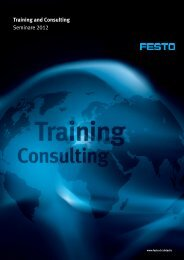 Training and Consulting Seminare 2012 - Festo Didactic