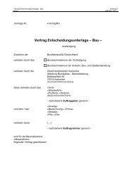 Vertrag Entscheidungsunterlage – Bau – - Oberfinanzdirektion ...