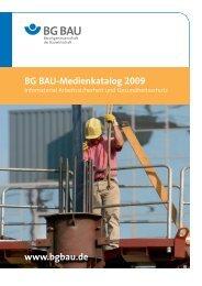 BG BAU-Medienkatalog 2009