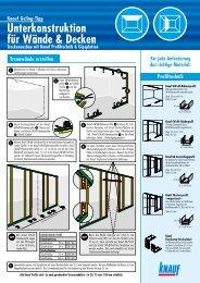 Unterkonstruktion für Wände & Decken - Knauf FormBar