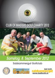 Club of Masters - Charity Turnier - Salzkammergut Golfclub