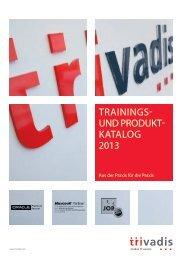 TRAININGS- UND PRODUKT- KATALOG 2013 - Trivadis
