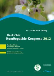 Homöopathie-Kongress 2012 - DZVhÄ