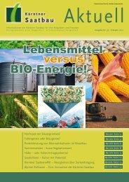 Lebensmittel versus BIO-Energie! - Kärntner Saatbau