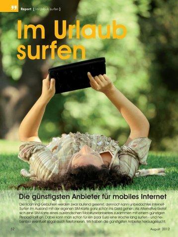 Im Urlaub surfen - CDA Verlag