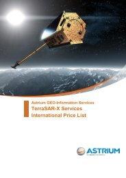 TerraSAR-X International Price List - Astrium GEO