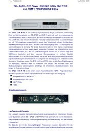CD - SACD - DVD Player - PULSAR SADV 1245 R HD incl. HDMI + ...
