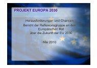 PROJEKT EUROPA 2030 - Europäische Akademie Berlin