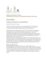 Medienorientierung, 23. August Eröffnung Neubau Archiv und ...