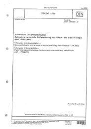 Anforderungen an die Aufbewahrung von Archiv- und Bibliotheksgut