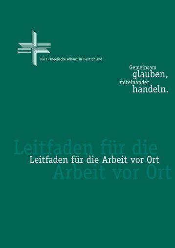 Leitfaden für die Arbeit vor Ort - Deutsche Evangelische Allianz