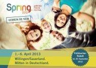 SPRING Werbebroschuere 2013 - Deutsche Evangelische Allianz