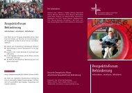 PerspektivForum Behinderung - Deutsche Evangelische Allianz