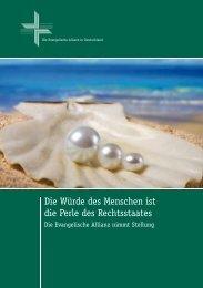 Die Würde des Menschen ist  die Perle des - Deutsche Evangelische ...