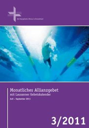 Gebetskalender September 2011 - Deutsche Evangelische Allianz