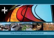 Hausbroschüre - Evangelisches Allianzhaus