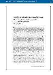 Die EU am Ende der Erweiterung - Europäische Akademie Berlin