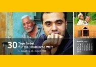 Tage Gebet für die islamische Welt - Deutsche Evangelische Allianz