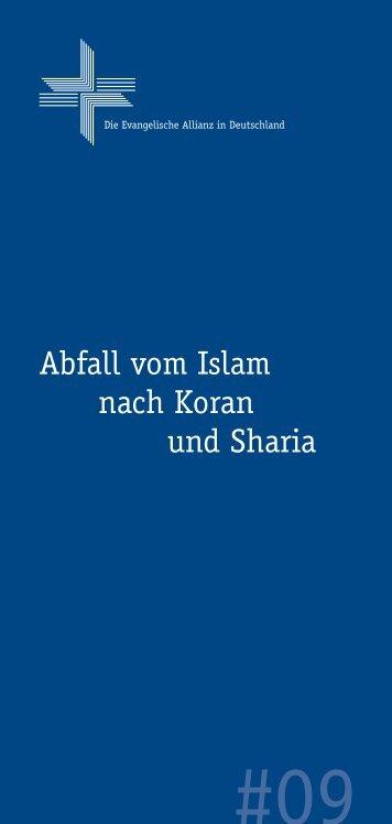 Nr. 09: Abfall vom Islam nach Koran und - Deutsche Evangelische ...