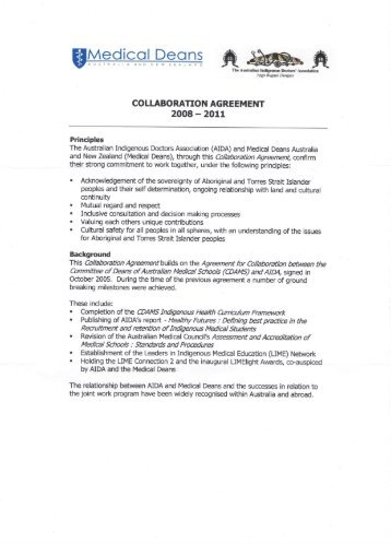second Collaboration Agreement - Medical Deans Australia & New ...