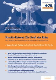 Shaolin-Retreat: Die Kraft der Ruhe - ZfU - International Business ...