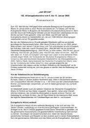 Weltweite Gebetswoche 2008 - Pressetext II kurz - Deutsche ...