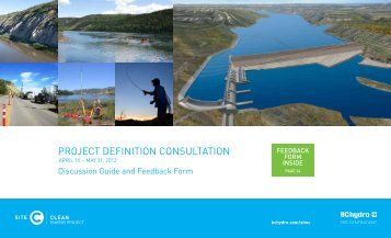 PROJECT DEFINITION CONSULTATION - BC Hydro