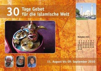 30Tage Gebet für die islamische Welt - Deutsche Evangelische Allianz