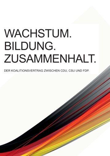 KOALITIONSVERTRAG CDU CSU FDP DOWNLOAD