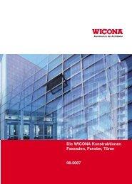 Die WICONA Konstruktionen Fassaden, Fenster, Türen ... - Pressler