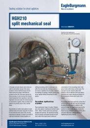 HGH210 split mechanical seal - EagleBurgmann