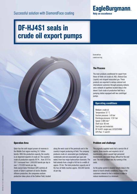 DF-HJ4S1 seals in crude oil export pumps - EagleBurgmann