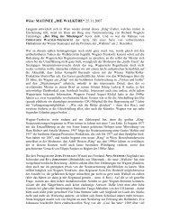 "Wien: MATINEE ""DIE WALKÜRE"" 25.11.2007 - Suomen Wagner ..."