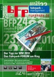 Der Tipp zur WM 2010: Das Fuhrpark-FORUM am Ring - fuhrpark.de