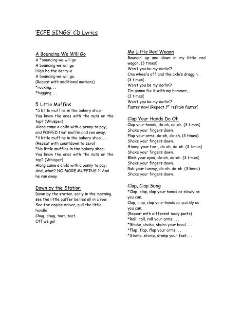 Lyrics For Ecfe Sings Cd Video clip and lyrics handclap by fitz and the tantrums. lyrics for ecfe sings cd