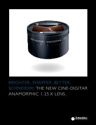 Cine-Digitar Anamorphic 1.25x Brochure - Schneider Optics