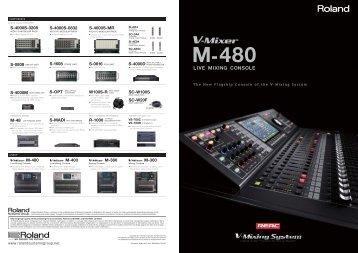 V-Mixer M-480 Features - Visit Lib.roland.co.jp - Roland