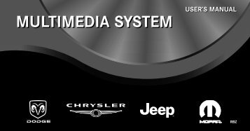 multimedia system user's manual - Jeep